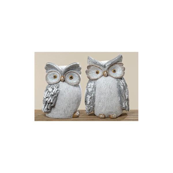 Sada 2 dekoratívnych predmetov Owl Biggy