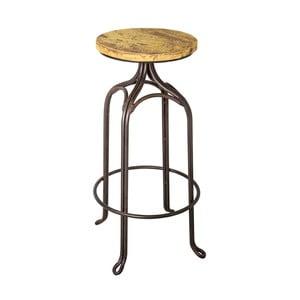 Barová stolička Antic Line Assise Jaune, ø 32 cm