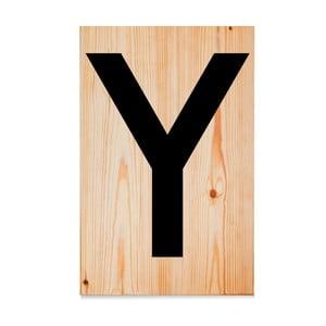 Drevená ceduľa Letters Y