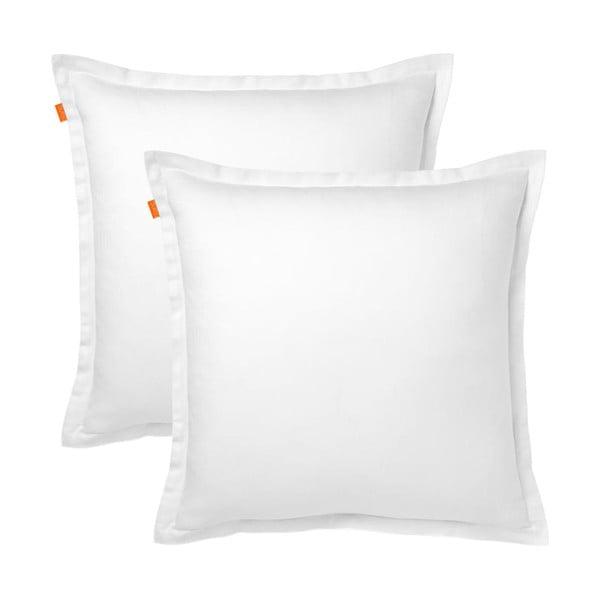 Sada 2 bielych bavlnených obliečok navankúš HF Living Basic, 60x60cm
