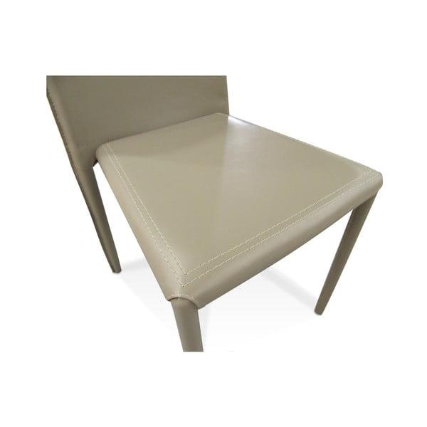 Pieskovo-hnedá jedálenská stolička s poťahom z eko kože Evergreen Houso Faux