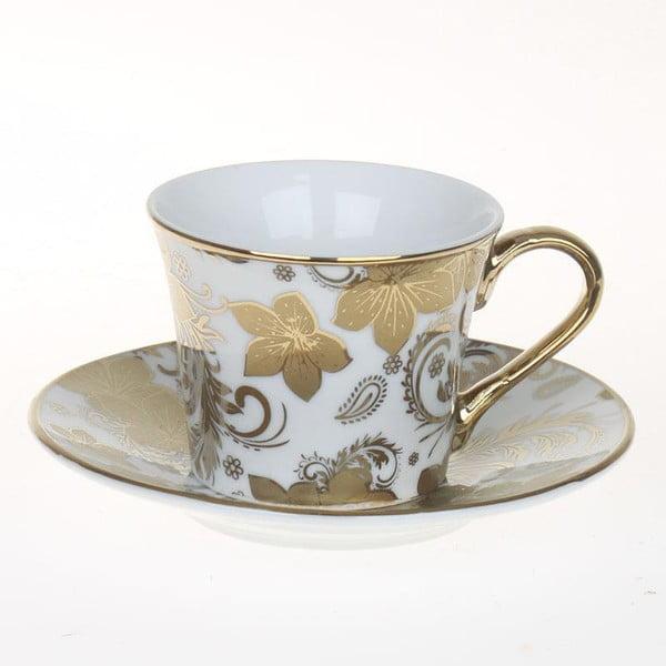 Set hrnčekov Coffee Gold Flowers, 6 ks