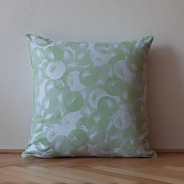 Vankúš s výplňou Light Green Rings, 50x50 cm