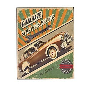 Nástenná ceduľa Garage 3, 24x30 cm