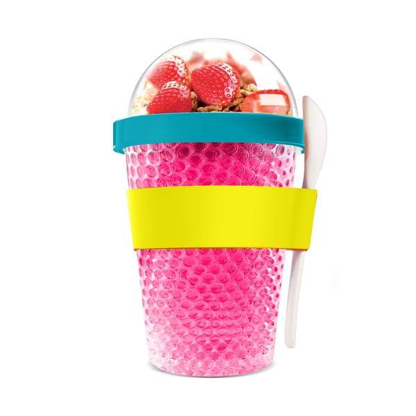 Termo téglik na jogurt Chill Yo 2 Go, ružový