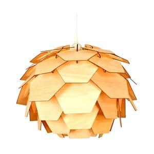 Závesné svietidlo v dekore dreva Scan Lamps Carpatica, ⌀41cm