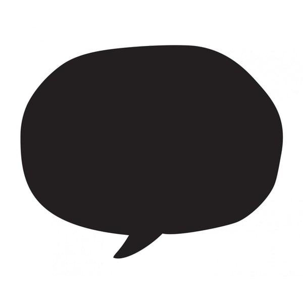 Čierna nástenná popisovateľná samolepka Chalk Talking Bubble
