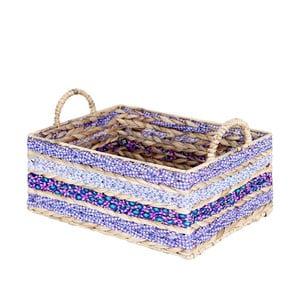 Ručne vyrábaný úložný košík z vodného hyacintu a'miou home Texatet, výška 17 cm