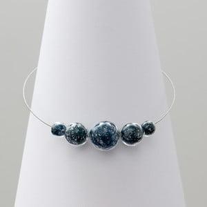 Modrý sklenený náhrdelník ko–ra–le Wired 6