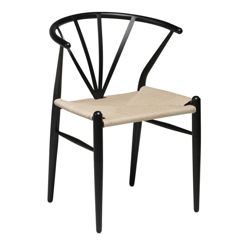 Čierna jedálenská stolička DAN–FORM Denmark Delta
