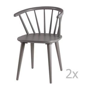 Sada 2 sivých jedálenských stoličiek sømcasa Anya
