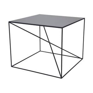 Čierny konferenčný stolík Take Me HOME Malbork, 55×55cm