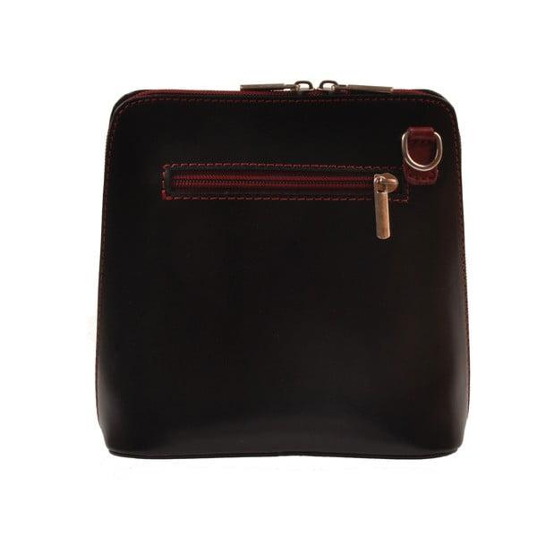 Kožená kabelka Vaire, čierna