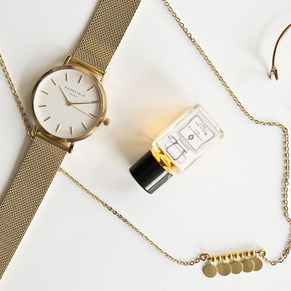 ... Bielo-zlaté dámske hodinky Rosefield The Mercer ... cd3fe1fa6e3
