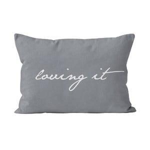 Tmavosivá obliečka na vankúš Slowdeco Loving, 60×50 cm