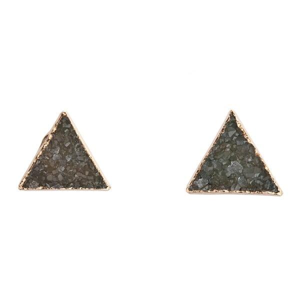 Náušnice zo zelenkavých ametystových trojuholníkov Decadorn