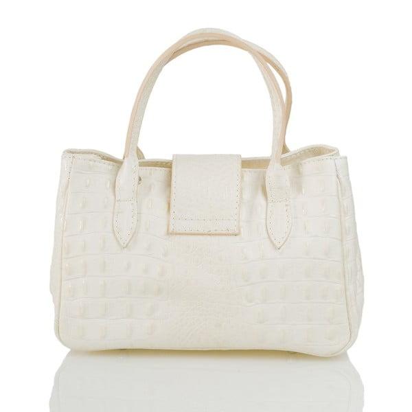 Kožená kabelka Laura, biela