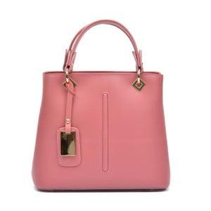 Ružová kožená kabelka Roberta M Salma Rosa