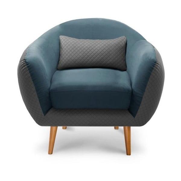 Kreslo Meteore Grey/Turquoise