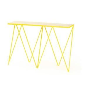 Žltý konzolový stolík &New Giraffe