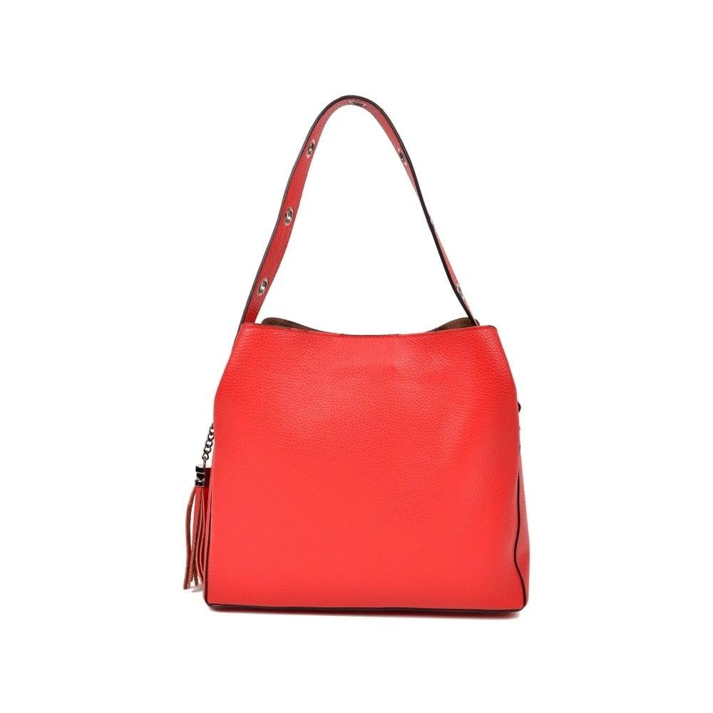 6cc106cd13 Červená kožená kabelka Isabella Rhea Hilly