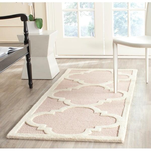 Vlnený koberec Clark 60x91 cm, ružový