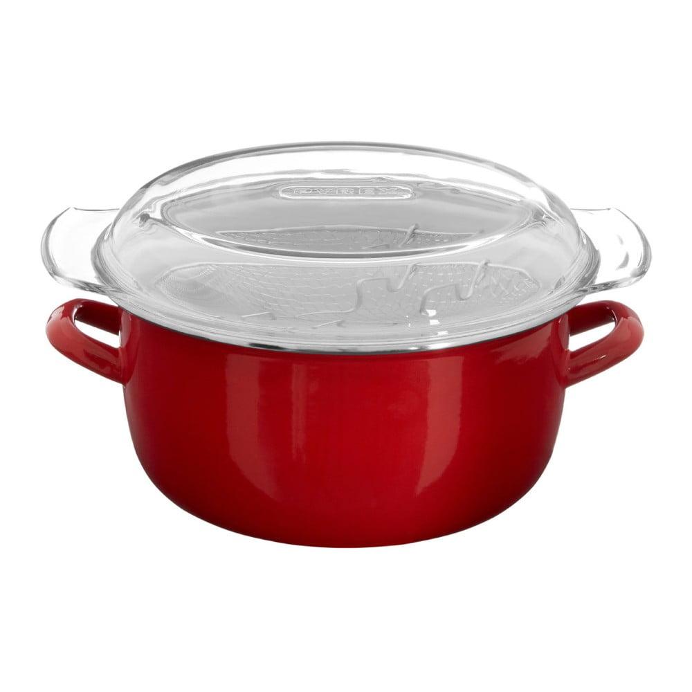 Červený fritovací hrniec Premier Housewares, objem 5 l