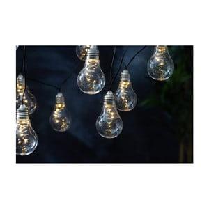 Biela solárna svetelná LED reťaz Best Season Glow, 10svetielok
