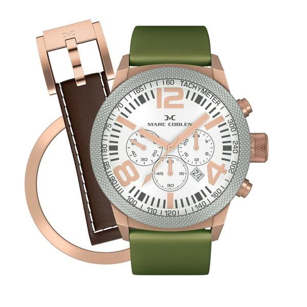 Unisex hodinky Marc Coblen s remienkom a krúžkom na ciferník naviac P89