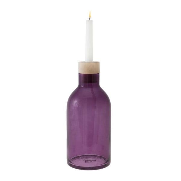 Váza/svietnik Bottle 25,5 cm, fialová