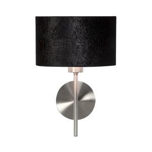 Čierne nástenné svietidlo z krokodílej kože Creative Lightings Glamour Croco