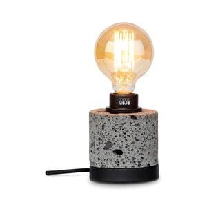 Sivá stolová lampa z lávového kameňa Good&Mojo Galapagos, výška 13 cm
