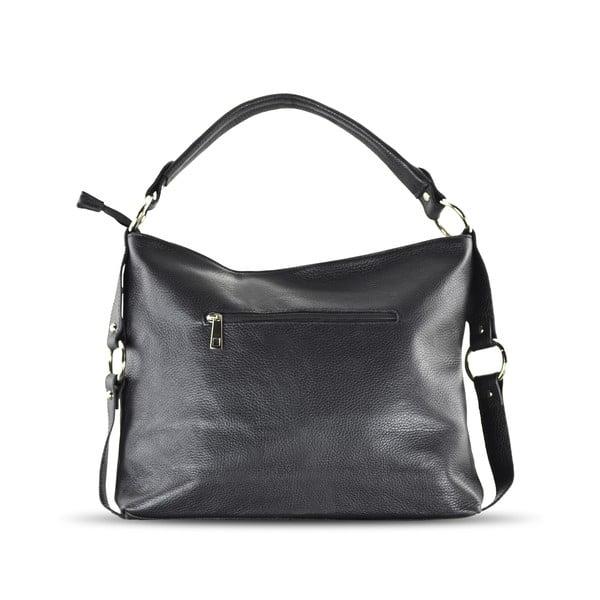 Kožená kabelka Anne, čierna