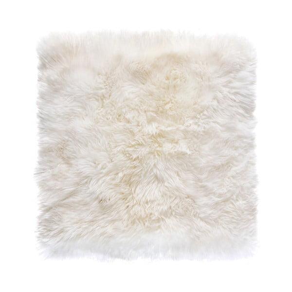 Biely štvorcový koberec Royal Dream Zealand