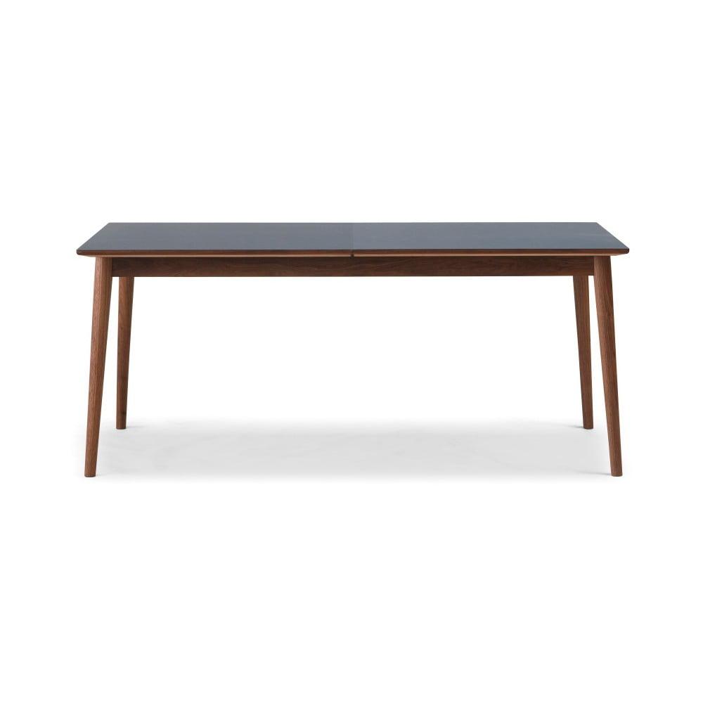 Rozkladací jedálenský stôl s tmavou doskou WOOD AND VISION Sesame, 175 × 90 cm