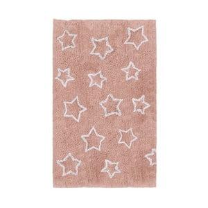 Ružový detský koberec Tanuki White Stars, 120×160cm