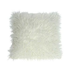 Biely chlpatý vankúš HF Living Fluffy, 45 × 45 cm