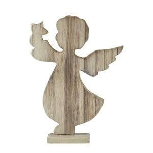 Dekoratívna soška KJCollection Angel Natural Wood