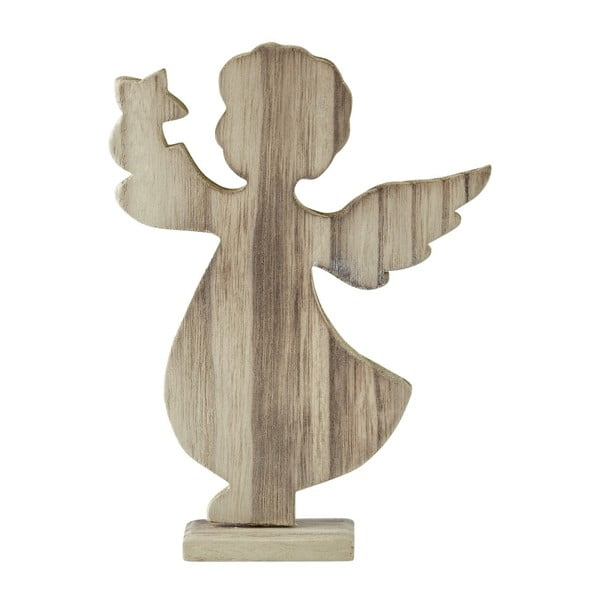 Dekoratívna soška KJ Collection Angel Natural Wood