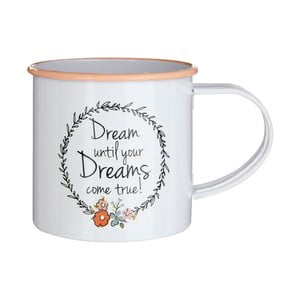 Smaltovaný hrnček Premier Housewares Pretty Things, 350 ml