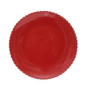 Rubínovočervený kameninový tanier Costa Nova Pearl, ⌀28 cm