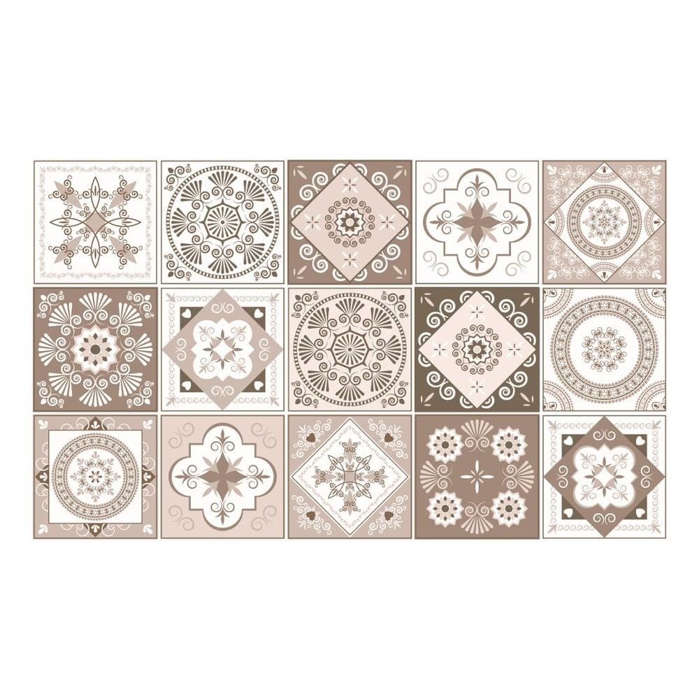 Sada 15 dekoratívnych samolepiek na stenu Ambiance Ezeiza, 20 × 20 cm
