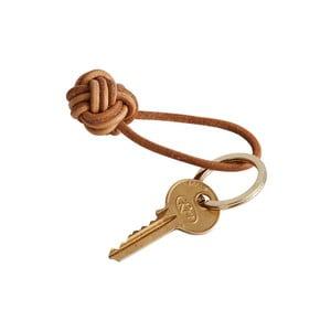 Hnedá kožená kľúčenka OYOY Keyring
