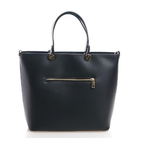 Kožená kabelka Viviana, čierna