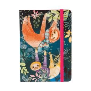 Zápisník A6 na gumu Tropical Sloths