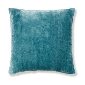 Modrá obliečka na vankúš Catherine Lansfield Basic Cuddly, 55×55 cm