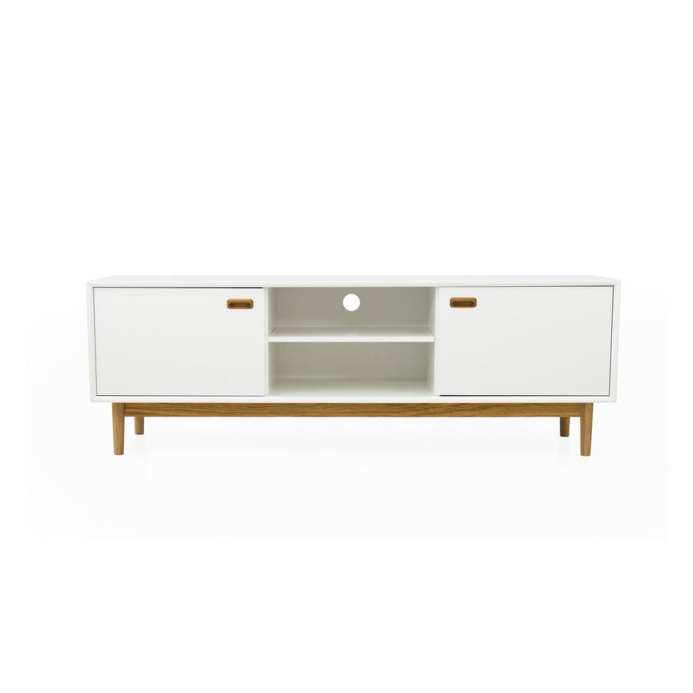 Biely TV stolík Tenzo Svea, dĺžka 170 cm