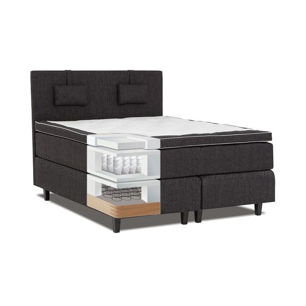 Čierna posteľ s matracom Gemega Grand, 160x200 cm