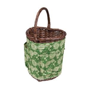 Košík v tvare srdca so záhradníckym náradím Kimono