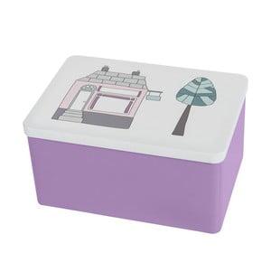 Úložný fialový box Sebra Village Girl